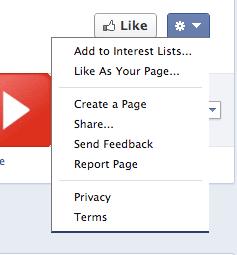 Reportar una página de Facebook